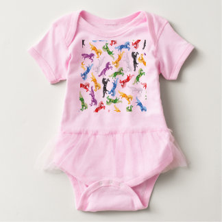 Colored Pattern Unicorn Baby Bodysuit