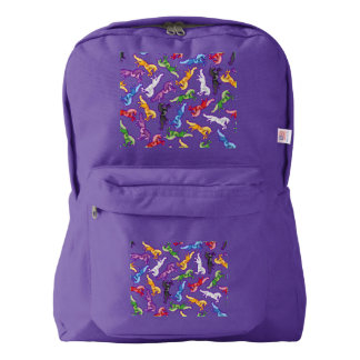 Colored Pattern Unicorn Backpack