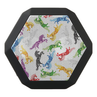 Colored Pattern Unicorn Black Bluetooth Speaker