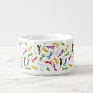 Colored Pattern Unicorn Bowl