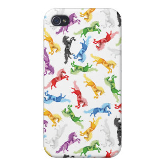 Colored Pattern Unicorn Case For iPhone 4