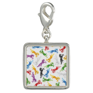 Colored Pattern Unicorn Charm