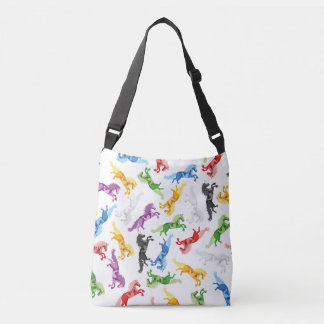Colored Pattern Unicorn Crossbody Bag