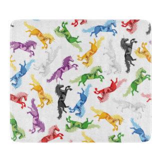 Colored Pattern Unicorn Cutting Board