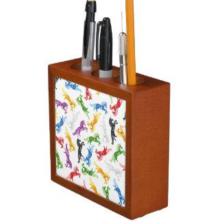 Colored Pattern Unicorn Desk Organizer