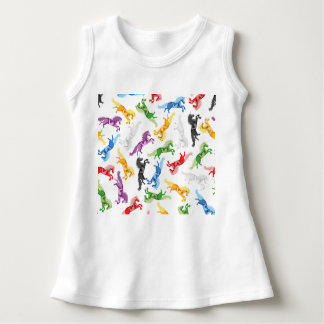 Colored Pattern Unicorn Dress