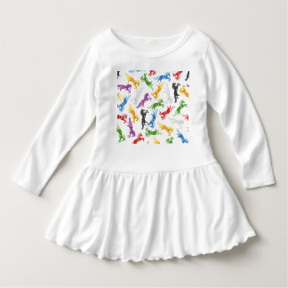 Colored Pattern Unicorn Dress