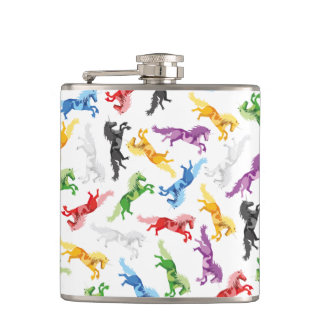 Colored Pattern Unicorn Flask