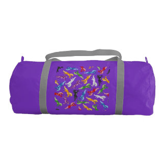 Colored Pattern Unicorn Gym Bag