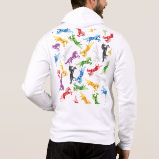 Colored Pattern Unicorn Hoodie
