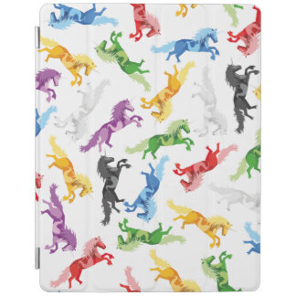 Colored Pattern Unicorn iPad Cover