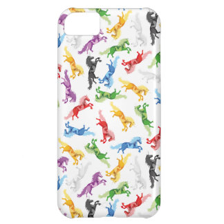Colored Pattern Unicorn iPhone 5C Cover
