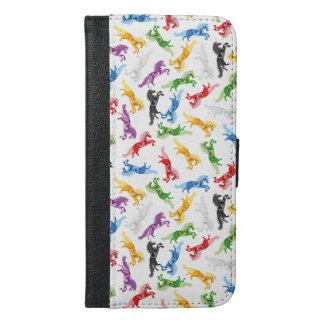 Colored Pattern Unicorn iPhone 6/6s Plus Wallet Case