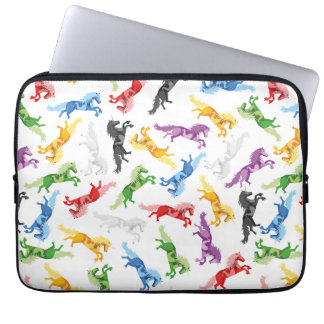 Colored Pattern Unicorn Laptop Sleeve