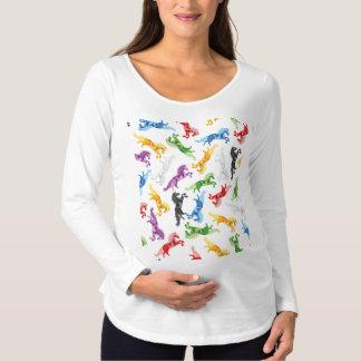Colored Pattern Unicorn Maternity T-Shirt