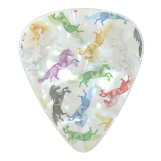 Colored Pattern Unicorn Pearl Celluloid Guitar Pick
