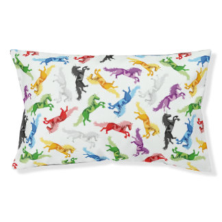 Colored Pattern Unicorn Pet Bed