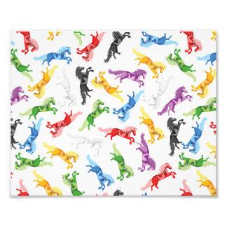 Colored Pattern Unicorn Photo Print