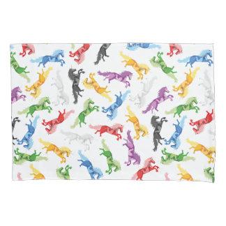 Colored Pattern Unicorn Pillowcase
