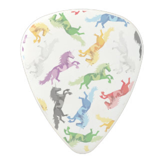 Colored Pattern Unicorn Polycarbonate Guitar Pick