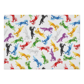 Colored Pattern Unicorn Poster