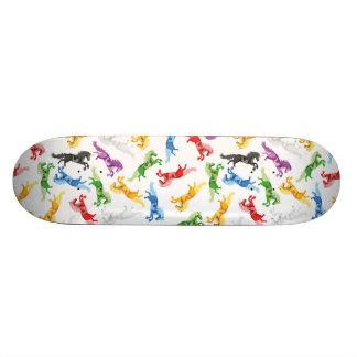 Colored Pattern Unicorn Skateboards