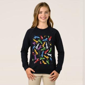 Colored Pattern Unicorn Sweatshirt