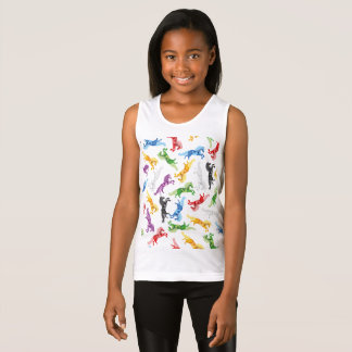 Colored Pattern Unicorn Tank Top