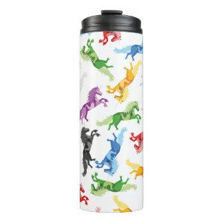 Colored Pattern Unicorn Thermal Tumbler