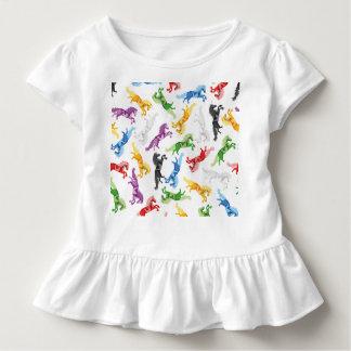 Colored Pattern Unicorn Toddler T-shirt