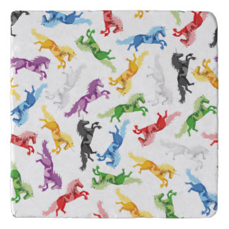 Colored Pattern Unicorn Trivet