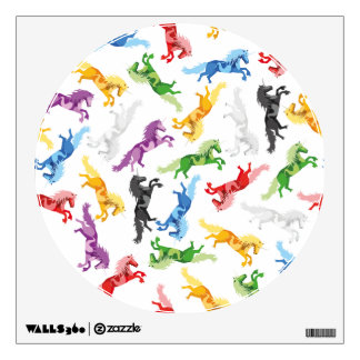 Colored Pattern Unicorn Wall Decal