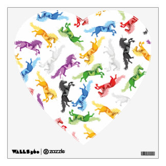 Colored Pattern Unicorn Wall Sticker