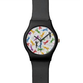 Colored Pattern Unicorn Watch
