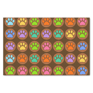 Colored Paws Tissue Paper