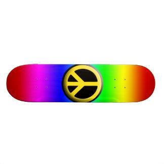 Colored Peace Symbols Custom Skateboard