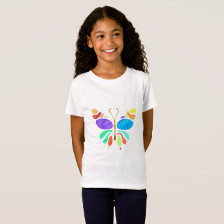 Colored Pencil Butterfly Drawing T-Shirt