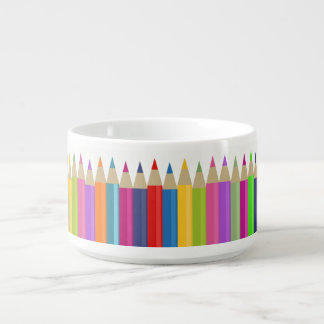 Colored Pencil Chorus Line Bowl