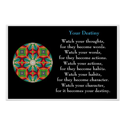 Colored Pencil - Kaleidoscopic Destiny Poster