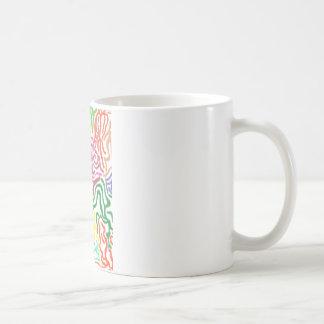 Colored Pencil Swirls Classic White Coffee Mug