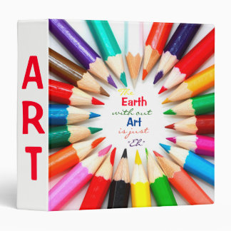 Colored Pencils 3 Ring Binder