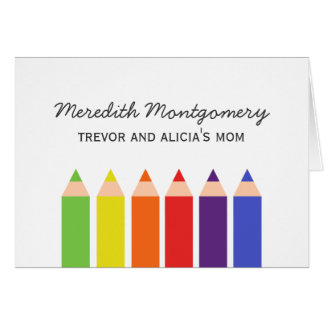 Colored Pencils Contact Card