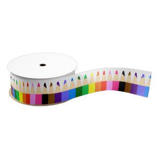 Colored Pencils Grosgrain Ribbon
