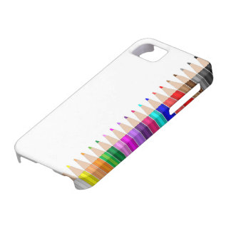 Colored pencils in a row case for the iPhone 5