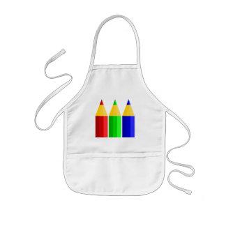 Colored Pencils Kids Apron
