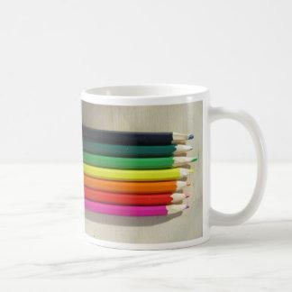 Colored pencils rainbow coffee mug