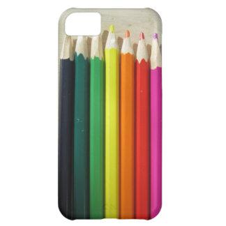 Colored pencils rainbow iPhone 5C cases