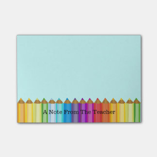 Colored Pencils Teacher's Note Pad Sticky Note
