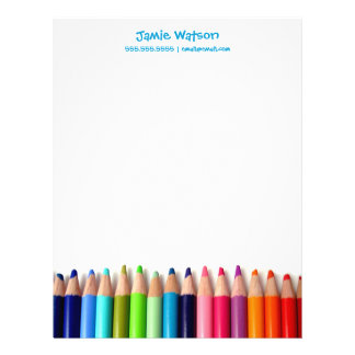 Colored Pencils Tutor Teacher Letterhead