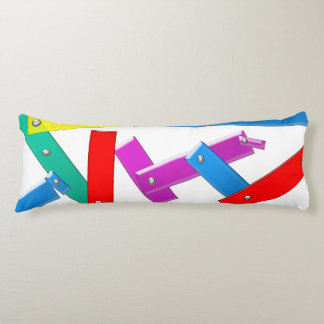 colored plank body pillow